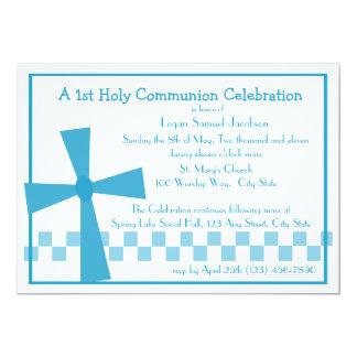 1. Kommunions-Kreuz 12,7 X 17,8 Cm Einladungskarte