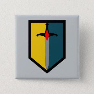 1. Manöver-Verbesserungs-Brigade Quadratischer Button 5,1 Cm
