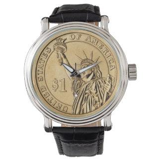 $1 USA-Goldmünze Uhr