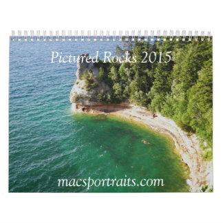 2015 dargestellter Felsen-Kalender Wandkalender