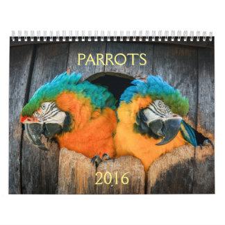 2016 Kalender der Papageien, Macaw, Amazonas,