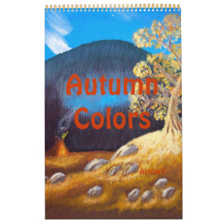 2016 Kalender-Kunst-Herbstindische Abreißkalender
