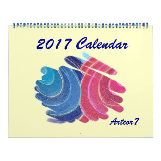2017 Kalender blaues rosa Chakra windt sich enorme