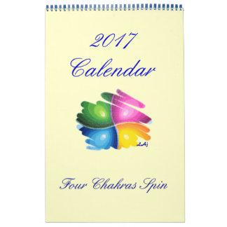 2017 Kalender vier Chakras