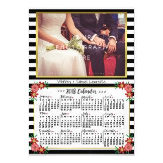 2018 Foto der Jahr-Kalender-Trendy Magnetische Karte