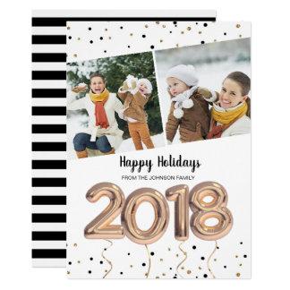 2018 Weihnachtsfeiertag   der Ballon-  2 Karte