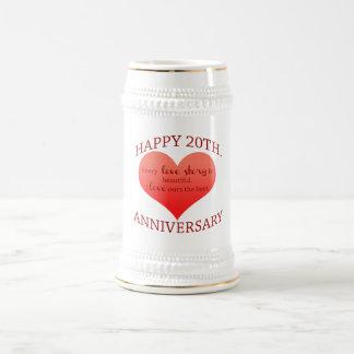 20. Jahrestag Bierkrug