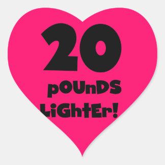20 Pfund Feuerzeug- Herz-Aufkleber