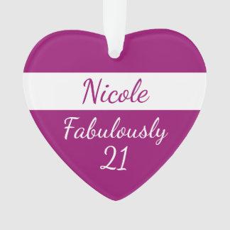 21. Geburtstag personifizieren Rosa fabelhaft 21 Ornament