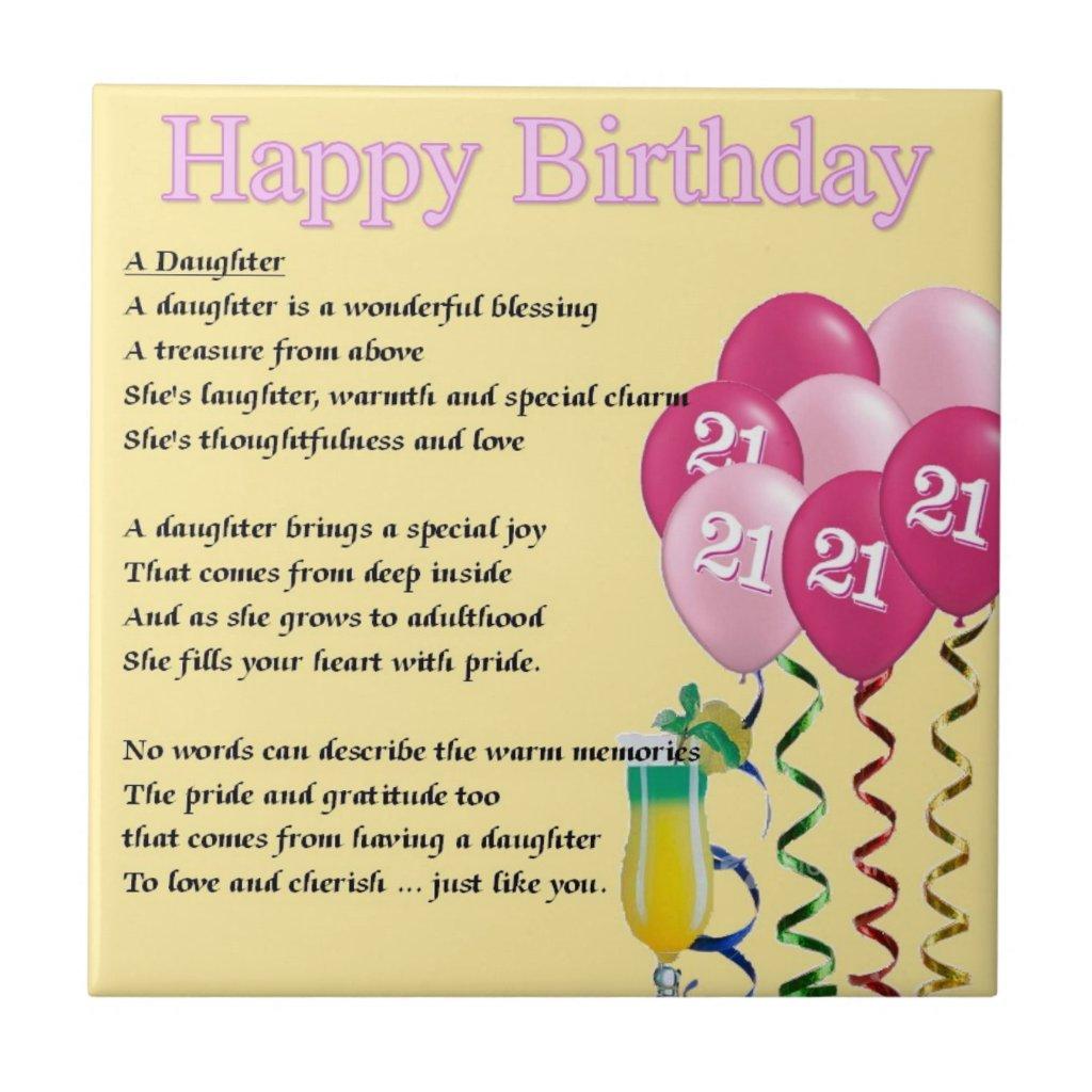 Geburtstagswunsche zum 21