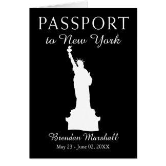 21. Geburtstags-Pass New York City Karte