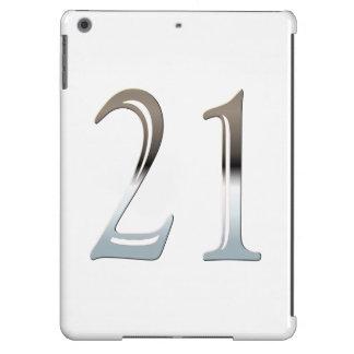 21. Geburtstags-silberne Zahl 21