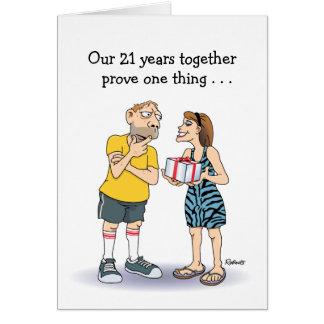 21. Hochzeitstag-Karte: Liebe Karte