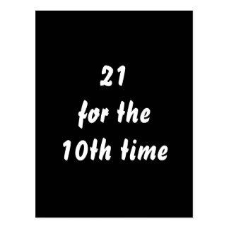 21 während des 10. Mal. 30. Geburtstag. Postkarte