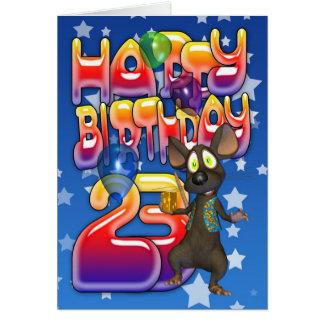 23. Geburtstags-Karte, alles Gute zum Geburtstag Karte