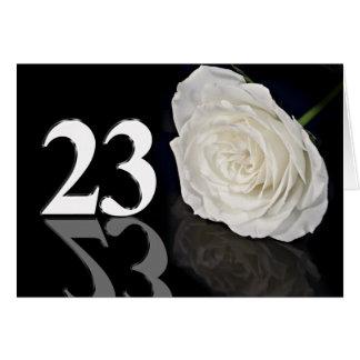 23. Geburtstags-Karte mit einer klassischen weißen Karte