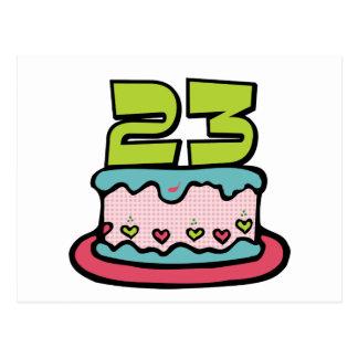 23 Jährig-Geburtstags-Kuchen Postkarten