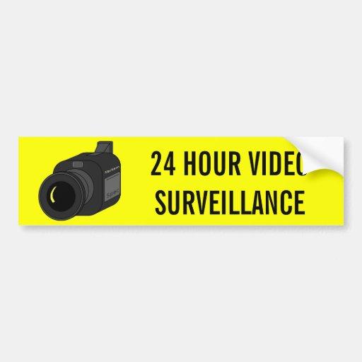 24 STUNDEN-VIDEO-ÜBERWACHUNGSKAMERA AUTOSTICKER