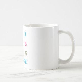 25. 25 fünfundzwanzigste Geburtstags-Jahrestag Tasse