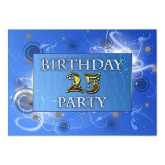 25. Abstrakte Lichter Geburtstags-Party Einladung