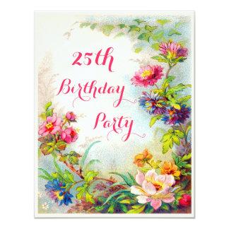 25. Geburtstags-Dahlie-und Einladungskarten