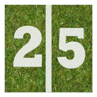 25. Geburtstags-Einladung Quadratische 13,3 Cm Einladungskarte