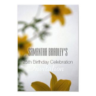 25. Geburtstags-Feier-Blumeneinladung 8,9 X 12,7 Cm Einladungskarte