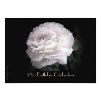 25. Geburtstags-Feier-Einladung, rosa Rose 12,7 X 17,8 Cm Einladungskarte