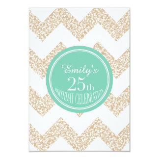 25. Geburtstags-Feier - wählen Sie Farbe 8,9 X 12,7 Cm Einladungskarte
