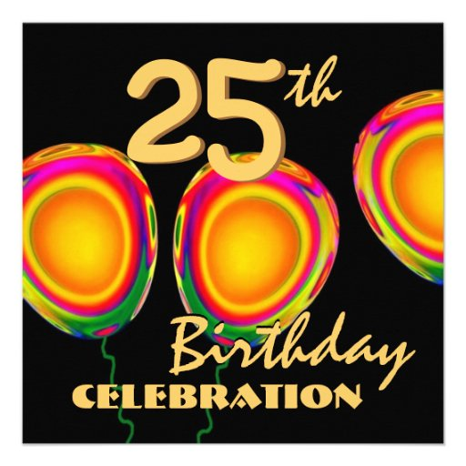 25. Geburtstags-Goldballon Einladung