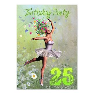 25. Geburtstags-Party Einladung