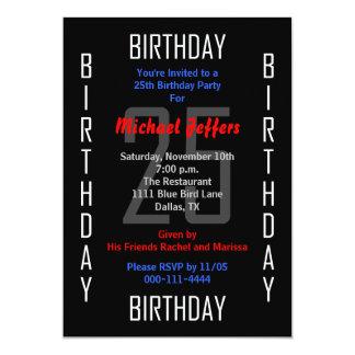 25. Geburtstags-Party Einladung 25