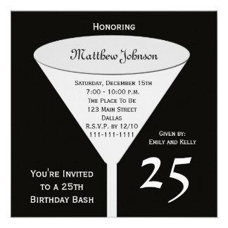 25 Geburtstags-Party Einladung 25