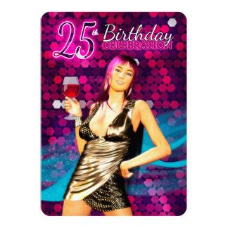 """25. Geburtstags-Party Einladung 5"""" x 7"""", Standard"""