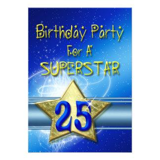 25. Geburtstags-Party Einladung für einen
