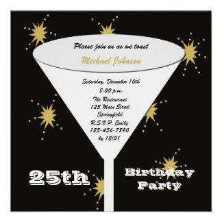 25 Geburtstags-Party Einladung -- Gold25 Toast