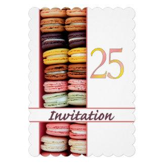 25. Geburtstags-Party Einladung macaron