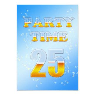 25. Geburtstags-Party Einladung mit Bier