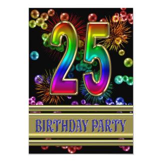 25. Geburtstags-Party Einladung mit Blasen