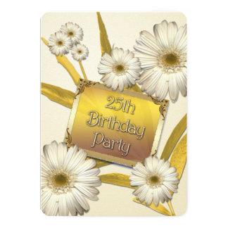 25. Geburtstags-Party Einladung mit Gänseblümchen 12,7 X 17,8 Cm Einladungskarte