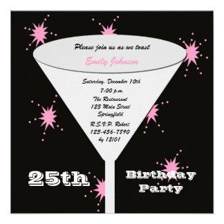 25. Geburtstags-Party Einladung -- Zacken Sie 25.