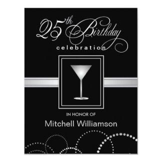 25. Geburtstags-Party Einladungen - mit Monogramm