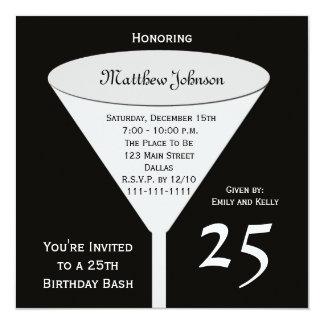 25. Geburtstags-Party Einladungs-25. Quadratische 13,3 Cm Einladungskarte
