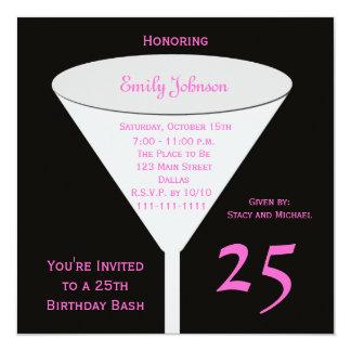 25. Geburtstags-Party Einladungs-25. Toast Quadratische 13,3 Cm Einladungskarte