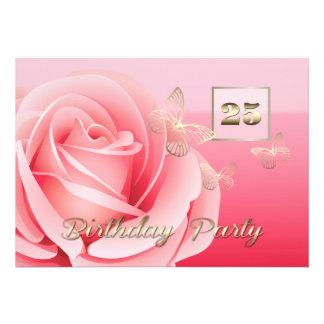 25 Geburtstags-Party-Gewohnheits-Einladungen