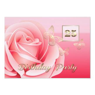 25. Geburtstags-Party-Gewohnheits-Einladungen