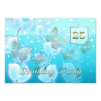25. Geburtstags-Party-Gewohnheits-Einladungen 12,7 X 17,8 Cm Einladungskarte
