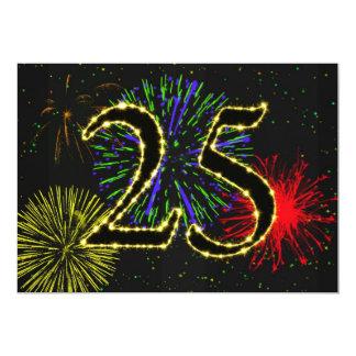 25. Geburtstags-Party invitate Personalisierte Ankündigungen