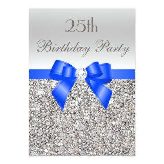 25. Geburtstags-silberner 12,7 X 17,8 Cm Einladungskarte