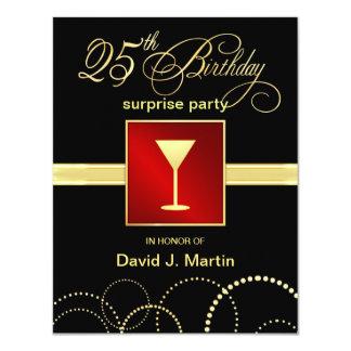 25. Geburtstags-Überraschungs-Party Einladungen